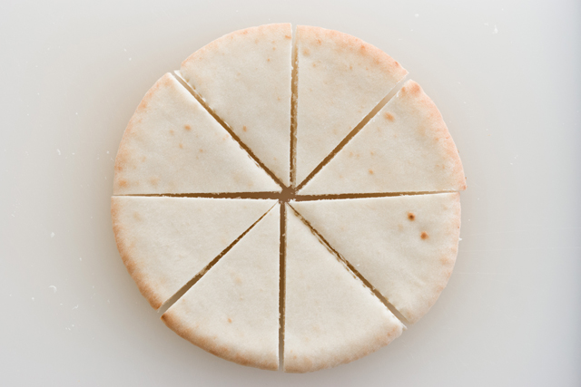 slice and separate pita