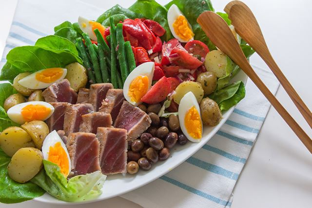Nicoise Salad with Cured Yellowfin Tuna