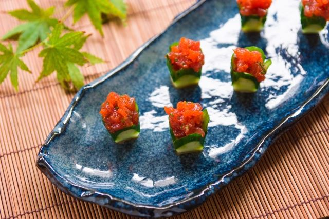 Spicy Tuna Cucumber Cups