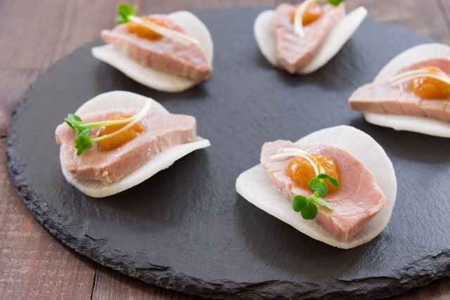 Poached Chutoro with Yuzu Miso